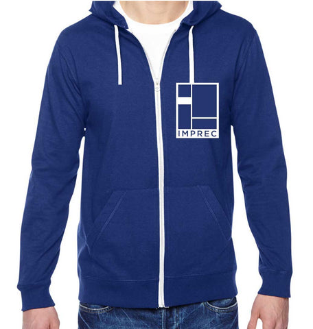 Logo Hoodie - Blue and White - Lightweight - 6oz