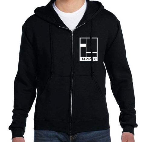 Logo Hoodie - Black and White - Heavyweight - 12oz
