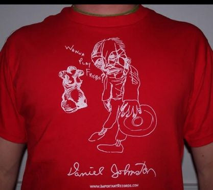 Daniel Johnston - Wanna Play Frisbee? T Shirt