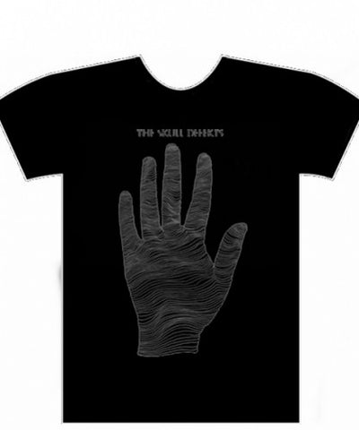 Skull Defekts - Black Hand - Black On Black - T Shirt
