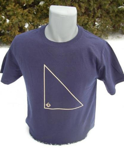 Triangle Tee - Cream On Navy - t shirt