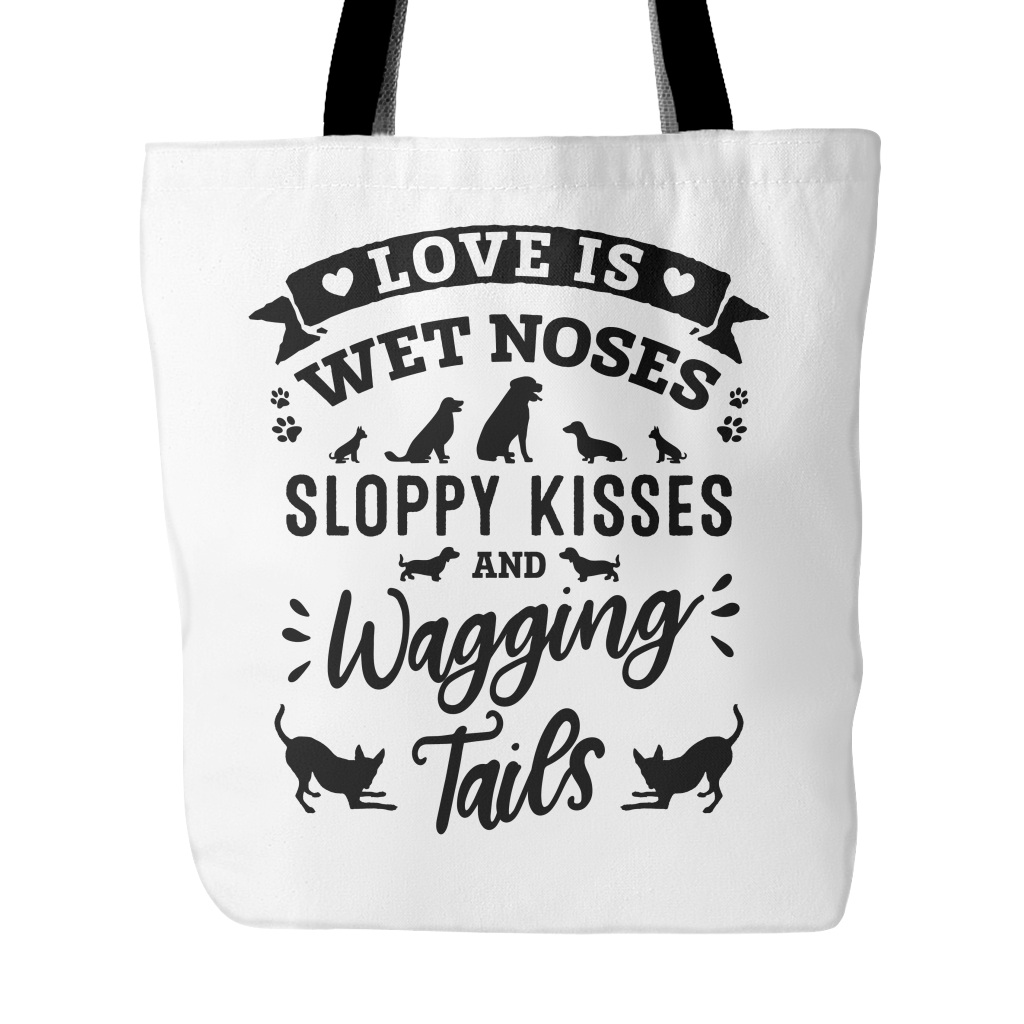 Love Is Wagging Tails Tote Bag
