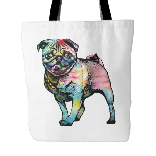 Pop Art Pug Tote Bag