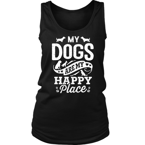 My Dogs Are My Happy Place Womens Tank