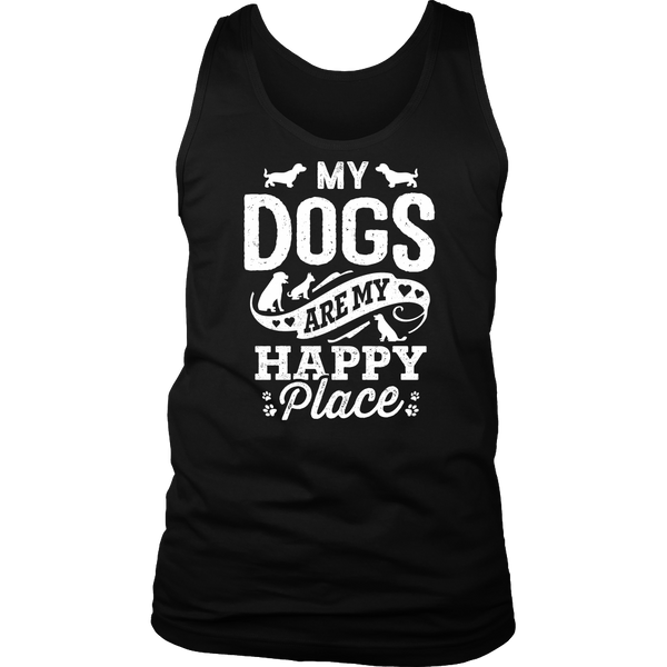 My Dogs Are My Happy Place Mens Tank