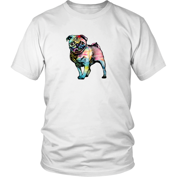 Pop Art Pug Tee - Mens Unisex