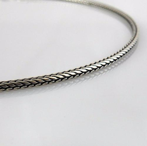 "20"" 3mm Antique Sterling Silver Bali Chain"