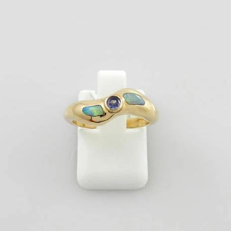 14kt Yellow Gold Tanzanite Opal Ring Size 5.75