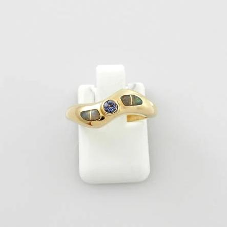 14kt Yellow Gold Tanzanite Opal Ring Size 5