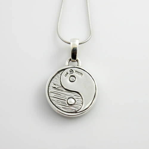 Sterling Silver Turquoise Inlay Yin-Yang Pendant
