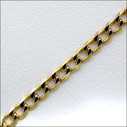 solid yellow gold curb chain