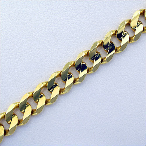 20 inch yellow gold curb chain