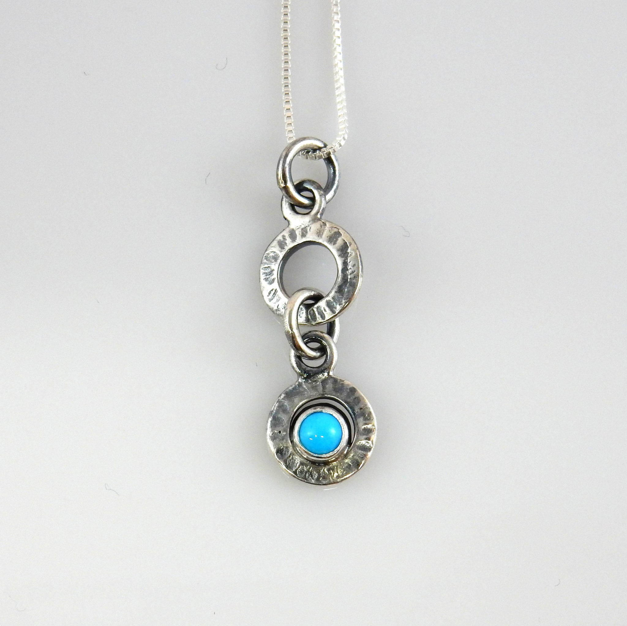 Silver Handcrafted Turquoise Pendant