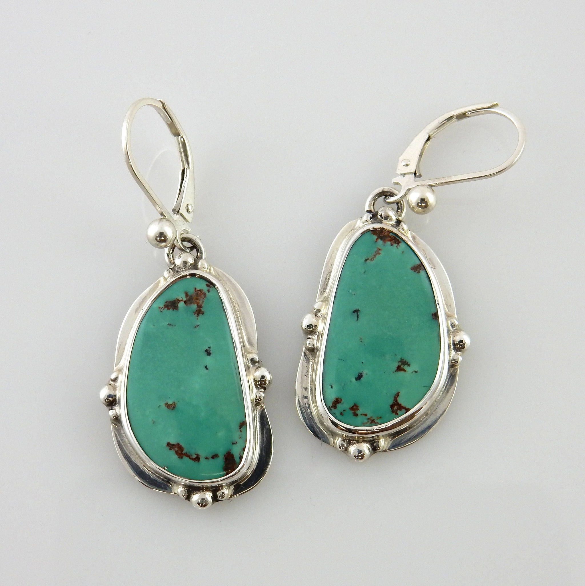 Silver Turquoise Dangle Earrings