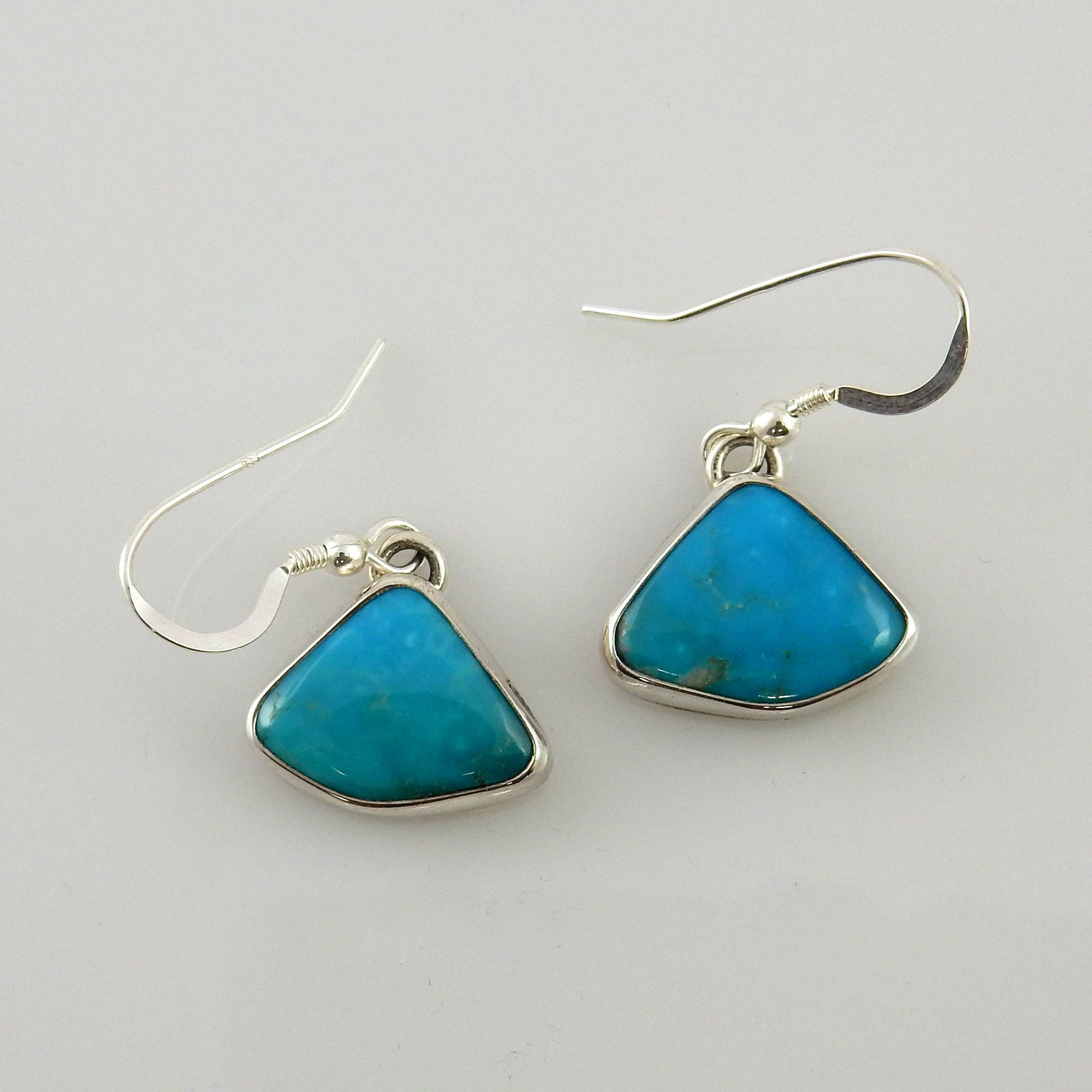 Handmade Silver Turquoise Earrings