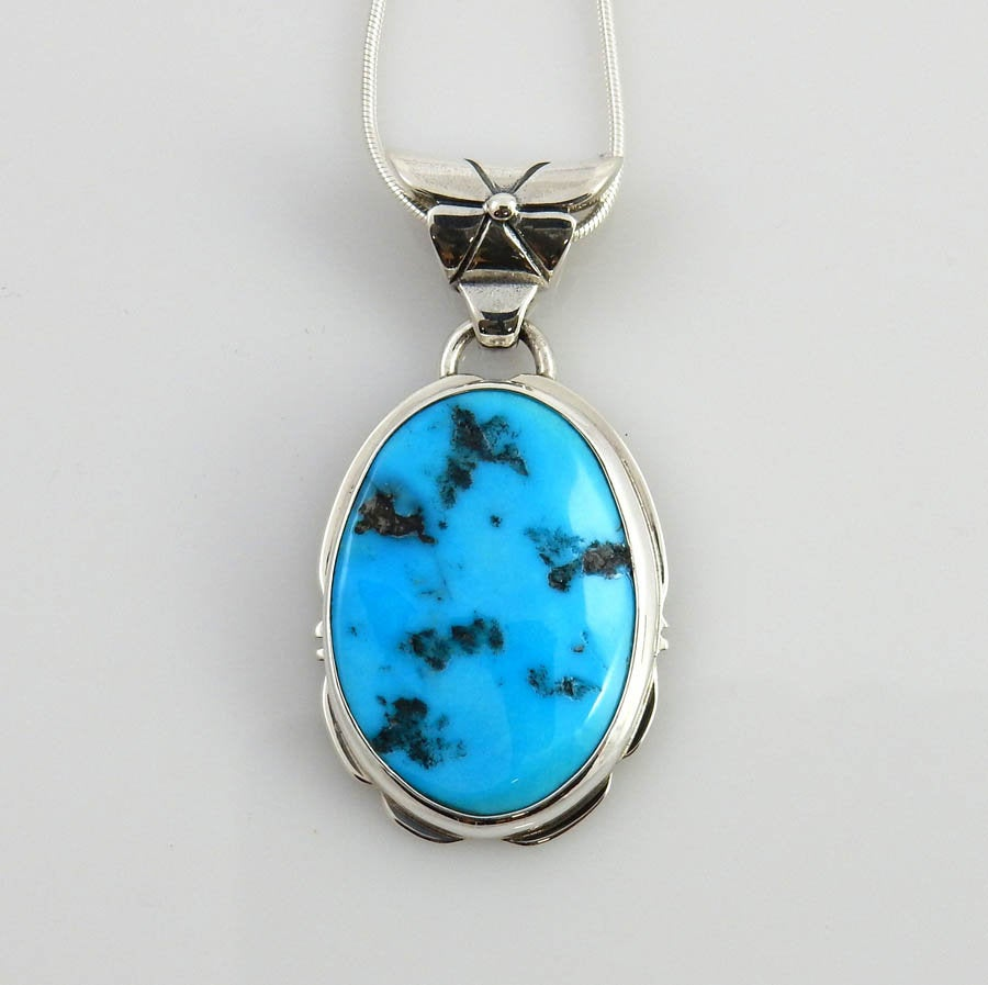 Silver Natural Turquoise Pendant
