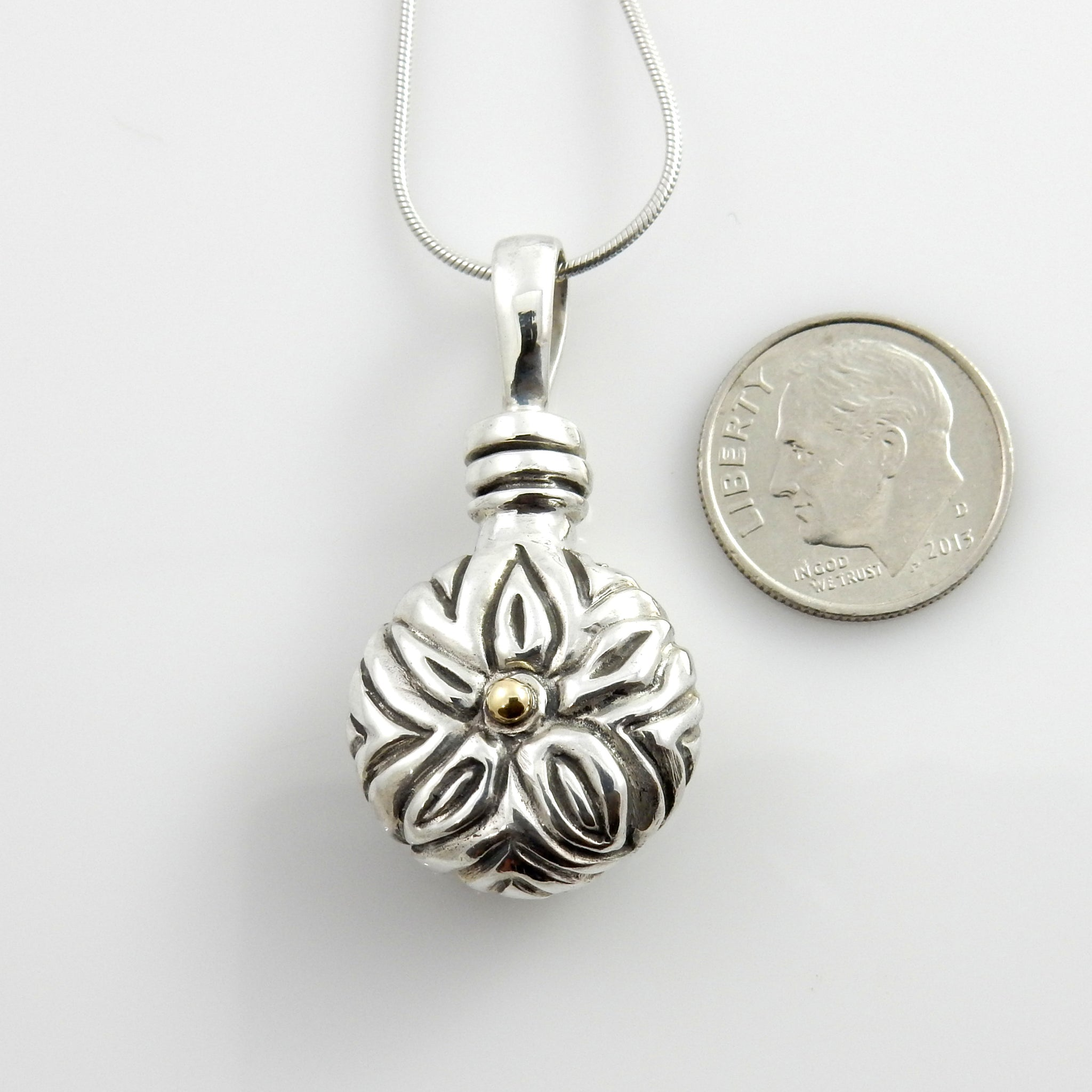 Silver Handcrafted Urn Pendant