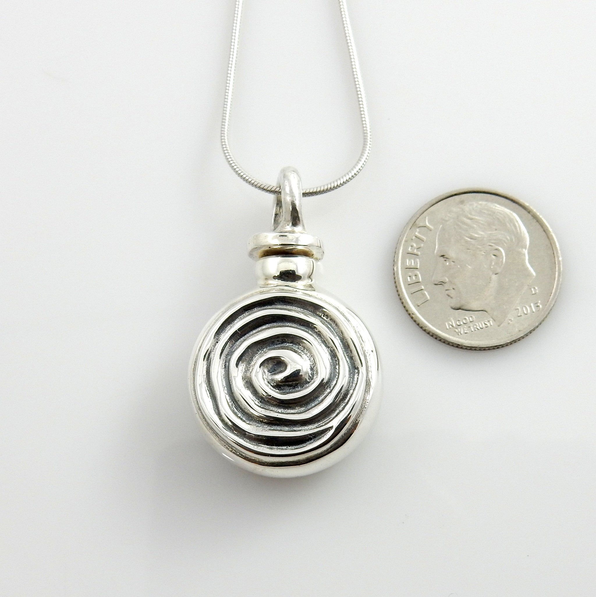 Sterling Silver Unique Handcrafted Urn Pendant