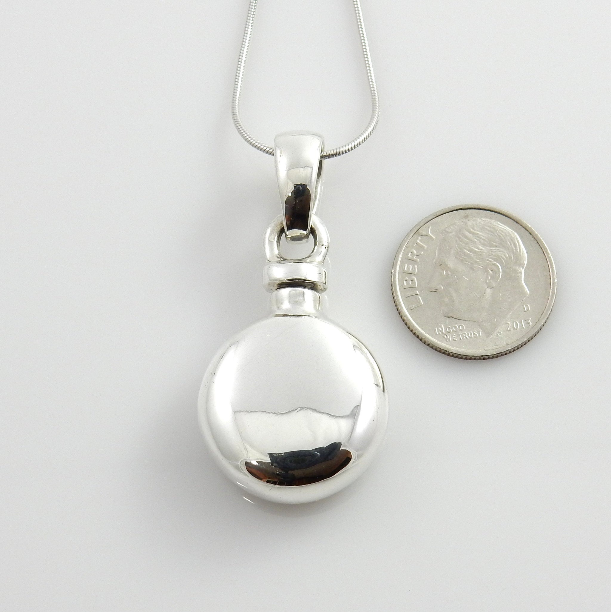 Unique Sterling Silver Handcrafted Urn Pendant