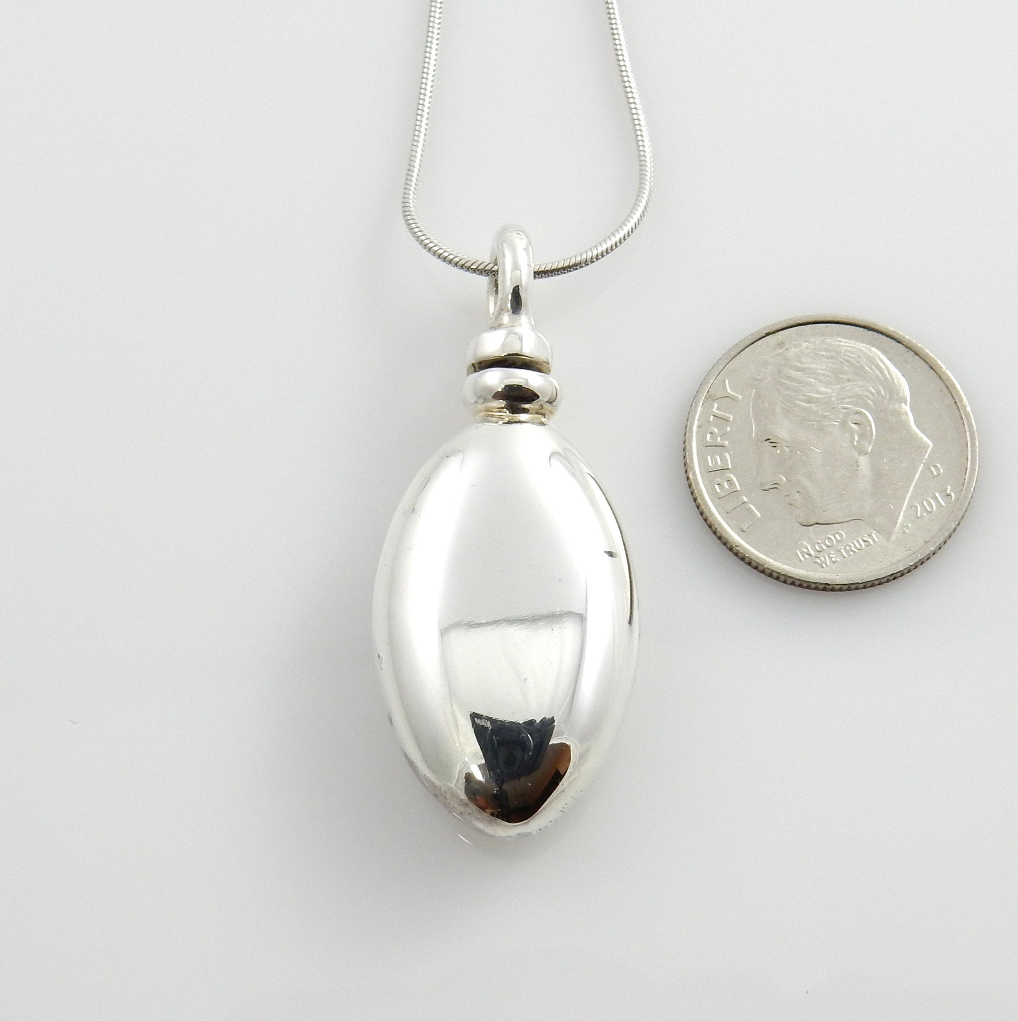 Simple Sterling Silver Handcrafted Urn Pendant