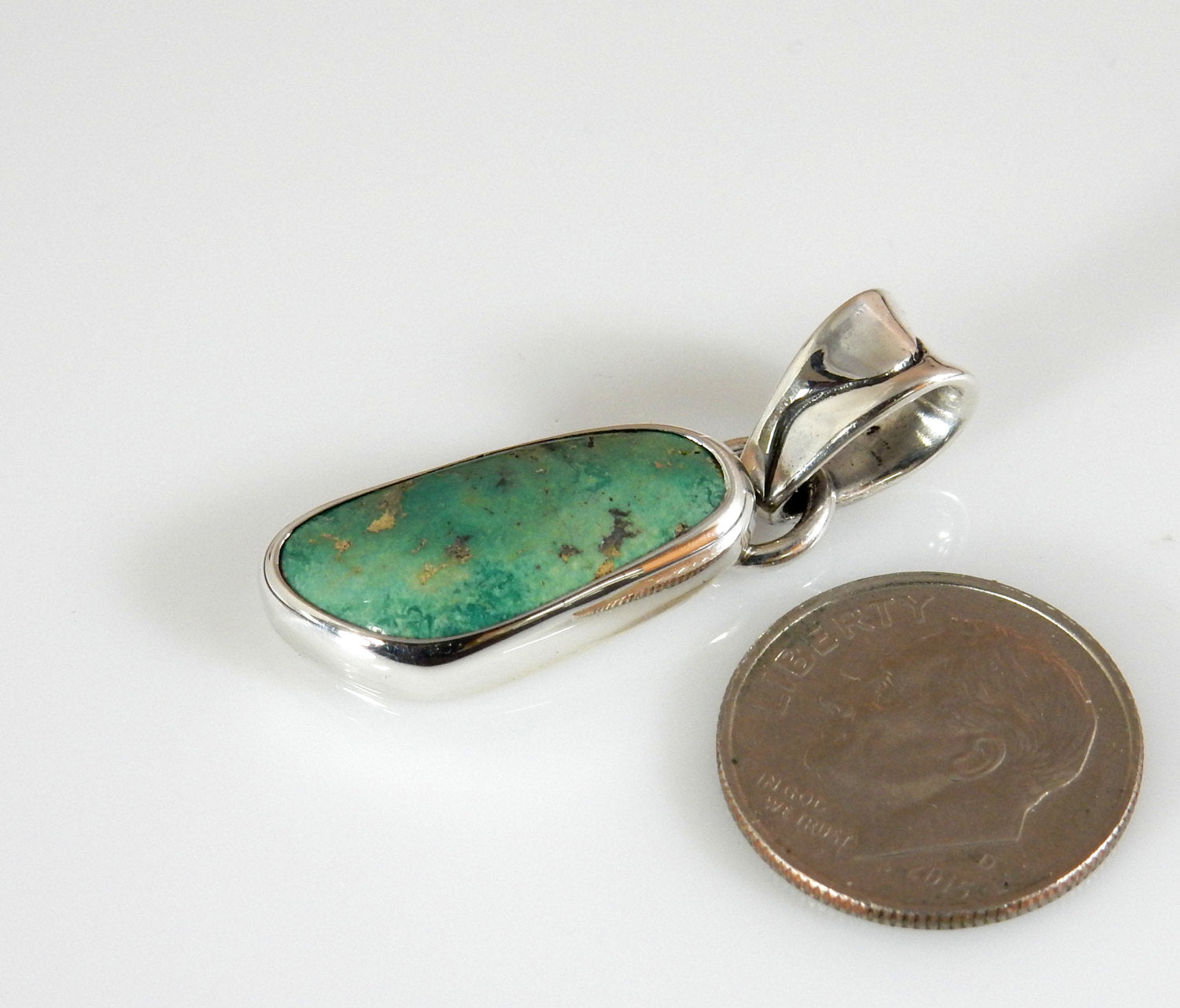 Silver Green Turquoise Pendant
