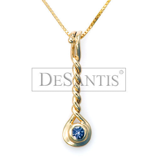 14kt Yellow Gold Tanzanite Twist Pendant