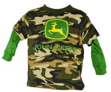 John Deere Green and Camo Hangdown Long Sleeve T-Shirt - Back40Trading2
