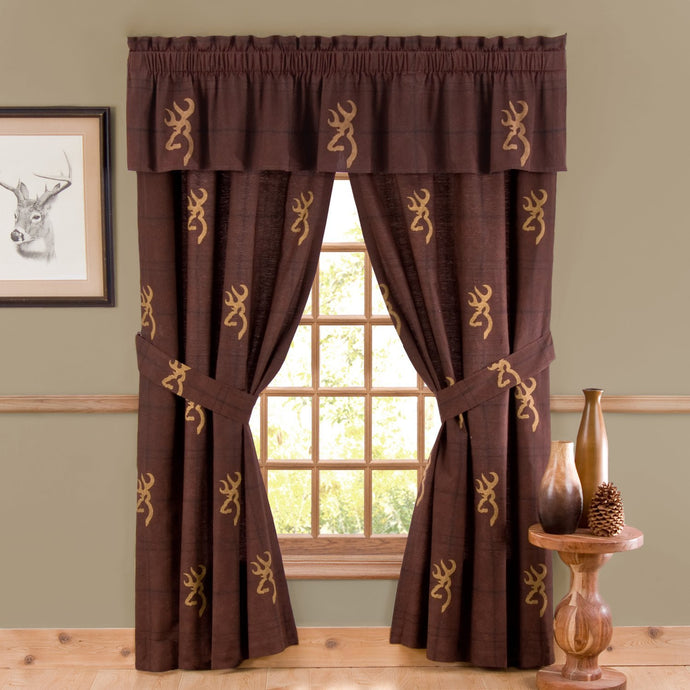 Buckmark Cotton Rod Pocket Tailored Curtain Valance - Back40Trading2