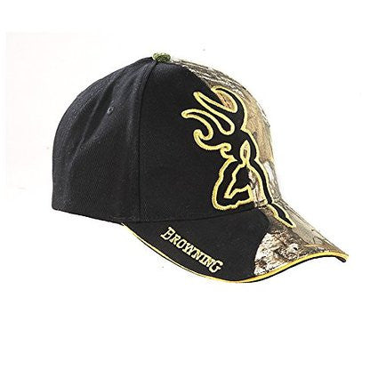 Browning Men's Realtree Camouflage And With Gold Outlined Buckmark Cap - Back40Trading2