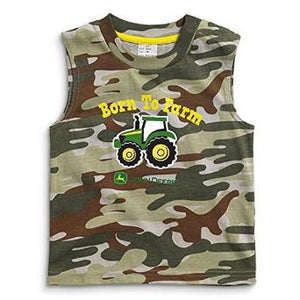 John Deere Infant and Toddler Green Camo Born To Farm Tank Top - Back40Trading2