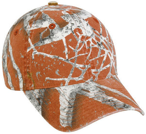 Burnt Orange Unleashed Camo Hat- Back40Trading2
