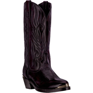 LAREDO MEN'S  LEATHER MCCOMB BLACK CHERRY - back40trading2