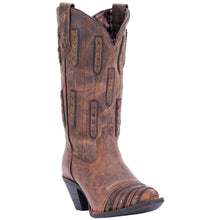 LAREDO WOMEN'S  LEATHER WHISKEY SOUR BONE - BROWN - back40trading2