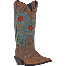 LAREDO WOMEN'S  LEATHER MISS KATE BROWN - TEAL - back40trading2