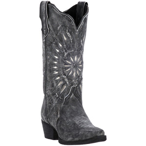 LAREDO WOMEN'S  LEATHER STARBURST BLACK - back40trading2