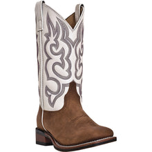 LAREDO WOMEN'S  LEATHER MESQUITE TAUPE - WHITE - back40trading2