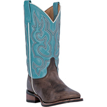 LAREDO WOMEN'S  LEATHER MESQUITE GAUCHO - LIGHT BLUE - back40trading2