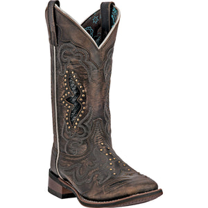 LAREDO WOMEN'S  LEATHER SPELLBOUND BLACKTAN - back40trading2