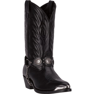 LAREDO MEN'S  LEATHER TALLAHASSEE BLACK - back40trading2