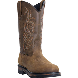LAREDO MEN'S  LEATHER HAMMER ST TAN - BROWN - back40trading2