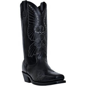 LAREDO MEN'S  LEATHER GAINESVILLE BLACK - back40trading2