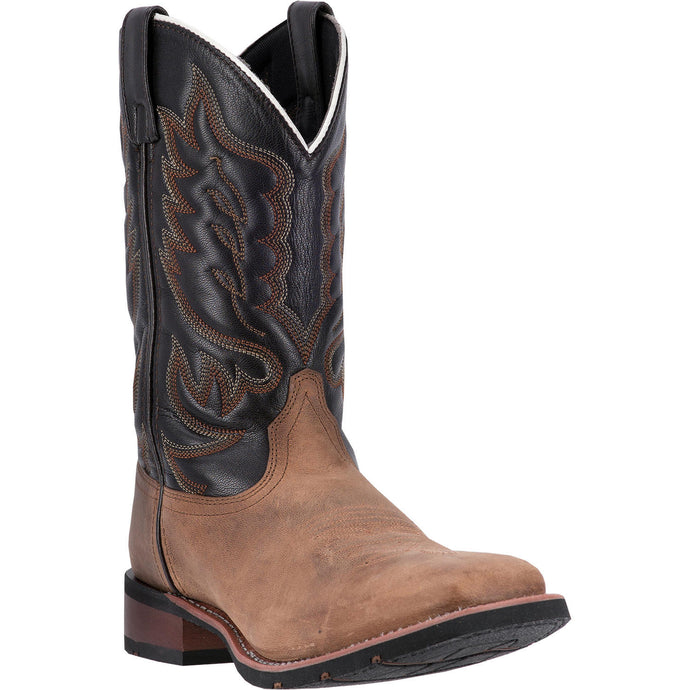 LAREDO MEN'S  LEATHER MONTANA SAND - CHOCOLATE - back40trading2