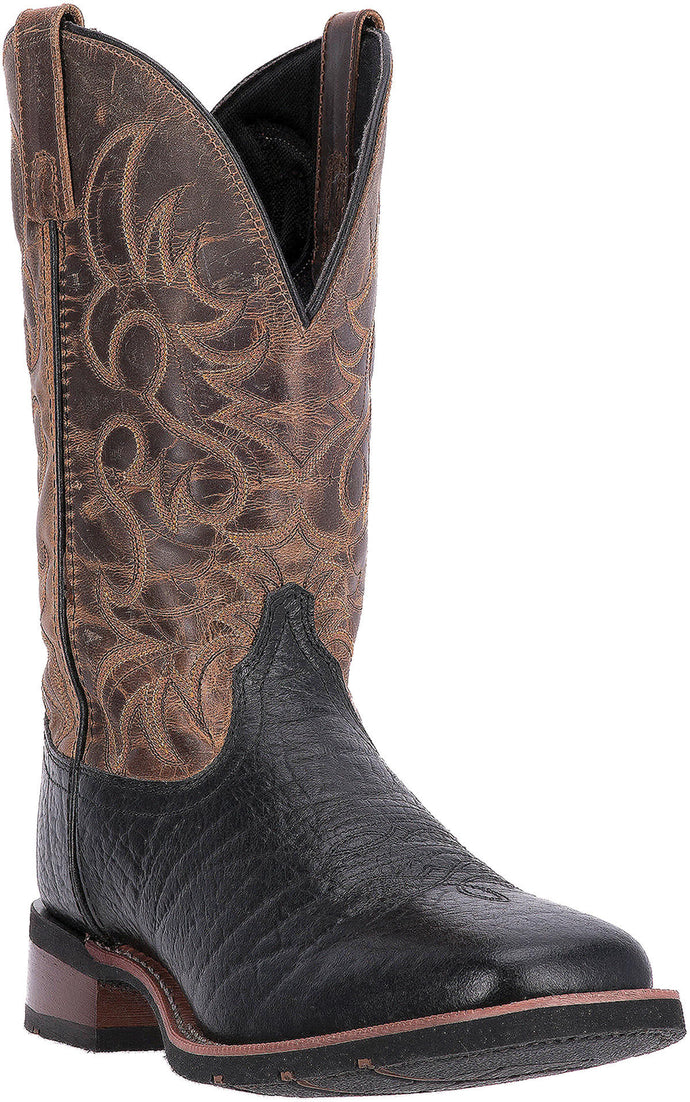 LAREDO MEN'S  LEATHER TOPEKA BLACK - TAN - back40trading2
