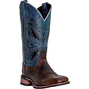 LAREDO MEN'S  LEATHER RAZOR BRANDY - NAVY - back40trading2