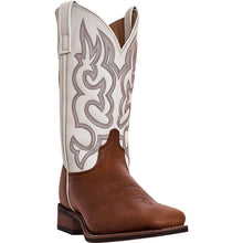 LAREDO MEN'S  LEATHER LODI REDWOOD - WHITE - back40trading2