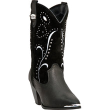 DINGO WOMEN'S  LEATHER AVA BLACK - back40trading2