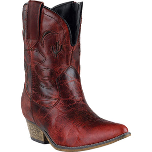 DINGO WOMEN'S  LEATHER ADOBE ROSE RED - back40trading2