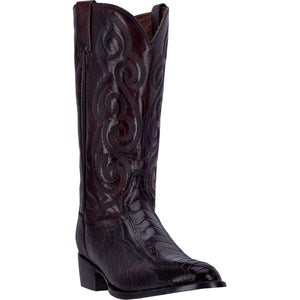 DAN POST MEN'S OSTRICH BELLEVUE BLACK CHERRY- back40trading2 - 2
