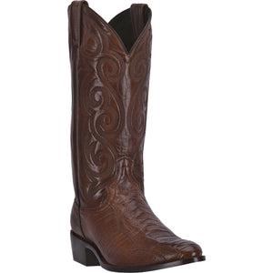 DAN POST MEN'S OSTRICH BELLEVUE ANTIQUE TAN- back40trading2 - 2