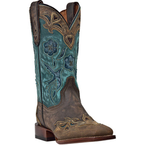 DAN POST WOMEN'S LEATHER CC BLUEBIRD COPPER - TURQUOISE- back40trading2 - 1
